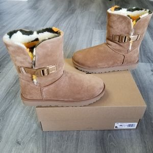 UGG Bailey Buckle Cali Collage Suede Boot